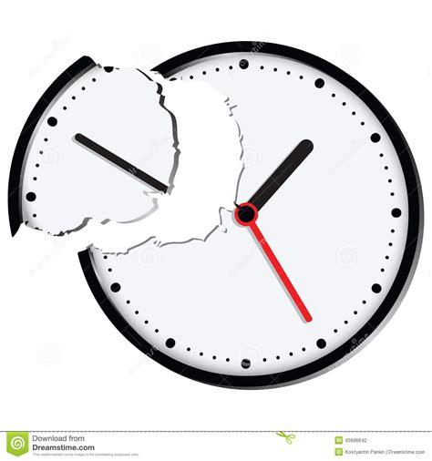 broken clocks broken clock stock vector image 45686642