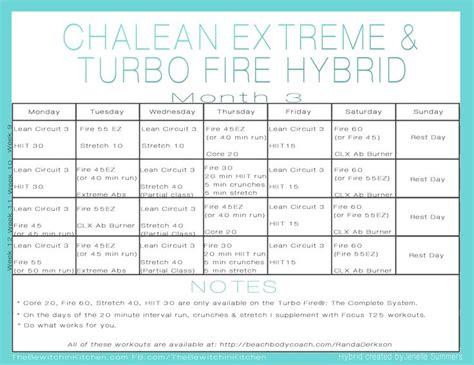 Chalean Workout Calendar Chalean Workout Schedule Calendar Template 2016
