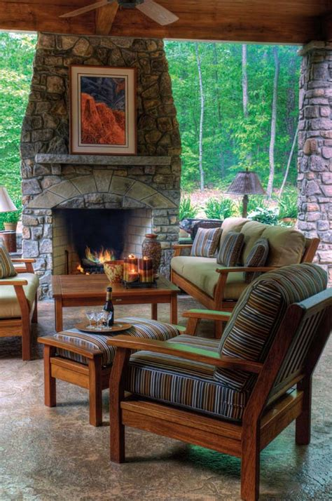 Rumford Outdoor Fireplace by New River