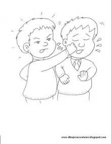 dibujos de nios peleando para colorear dibujos escolares