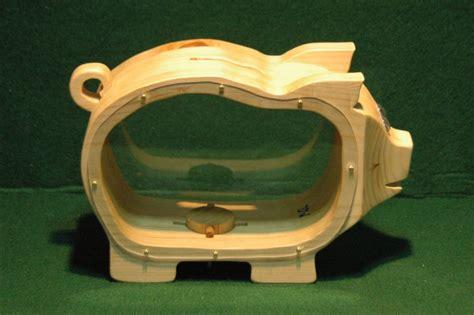Handcrafted Piggy Banks - wooden piggy bank