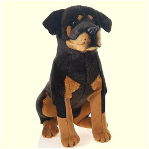 plush rottweiler plush sitting rottweiler stuffed animal