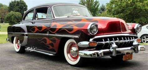 american muscle cars with flames 1954 chevrolet 210
