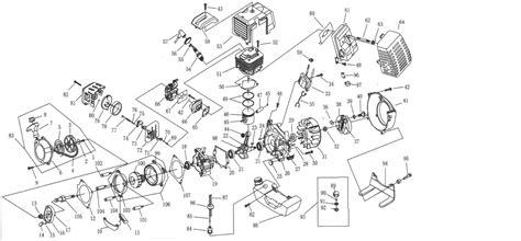 49cc pocket bike engine diagram 49cc engine parts