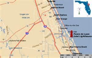 map of ponce inlet florida poncedeleoninlet gif