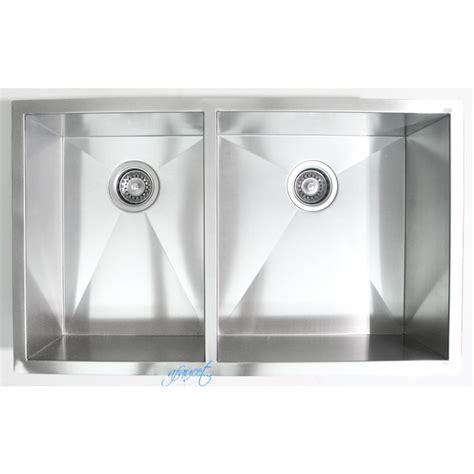 32 Inch Stainless Steel Undermount 40 60 Double Bowl 40 Inch Kitchen Sink