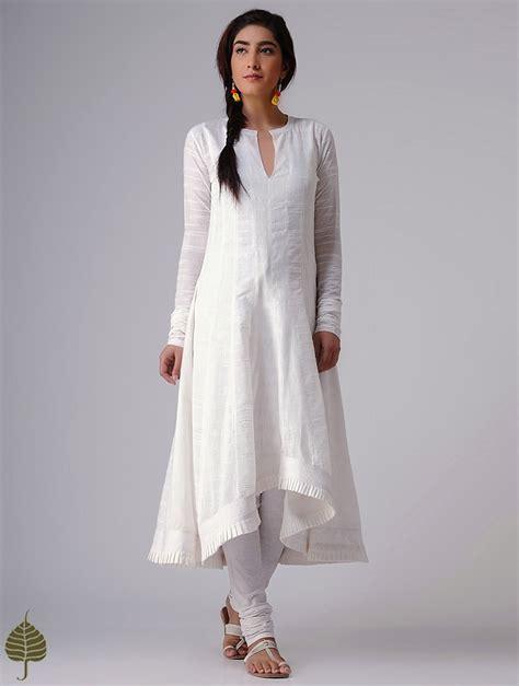 Kurti Pattern In White | buy white murshidabad handloom cotton kurta by jaypore