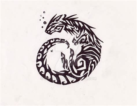 otter tribal tattoo by skrayle on deviantart