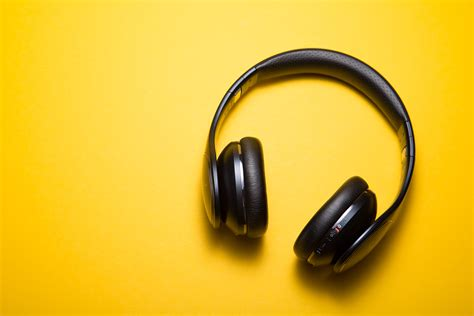 Headset By Hd wallpaper headphones yellow background hd 5k 10170
