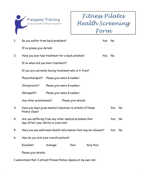 sle health screening form 10 free documents in word pdf