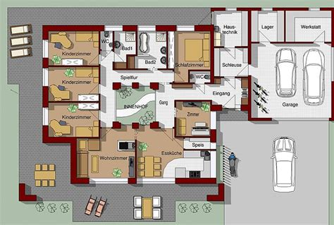 bungalow 4 schlafzimmer grundriss bungalow 5 zimmer 3d loopele