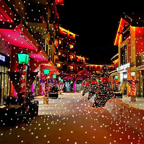 christmas lights snowflakes falling uk sell outdoor snow falling led projector light snowflakes l ebay