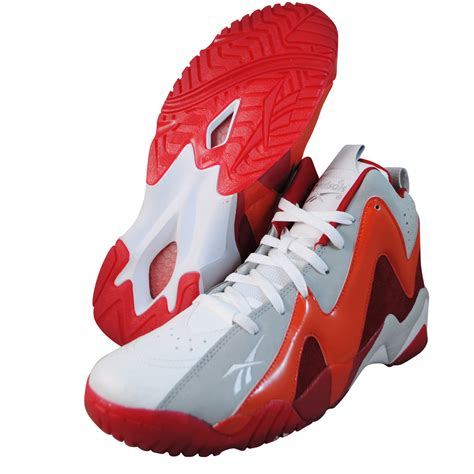 kamikaze basketball shoes reebok mens kamikaze ii mid white basketball shoes v61434