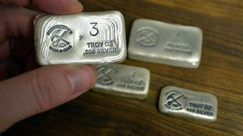 1 oz silver bar canada new silver bullion unboxing prospector s gold and gems