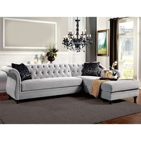 Beautiful Sectional Sofas Beautiful Overstock Sectional Sofas Furniture Of America Aristocrat Tufted Sectional By