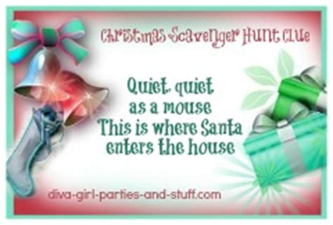 santa riddles scavenger hunts