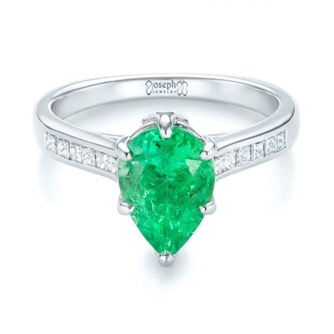 custom emerald and engagement ring 103631