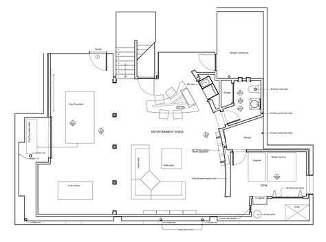 basement floor plans with bar madison brad jenkins inc