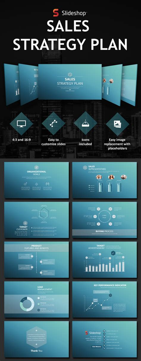 Sales Strategy Plan By Slideshop Graphicriver Sales Strategy Template Powerpoint