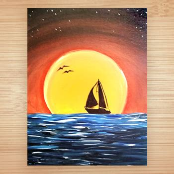 paint with a twist fenton dusk on the water bamboo studio grand rapids mi