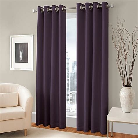 Lined Grommet Curtains Majestic Blackout Lined Grommet Window Curtain Panel Bed Bath Beyond