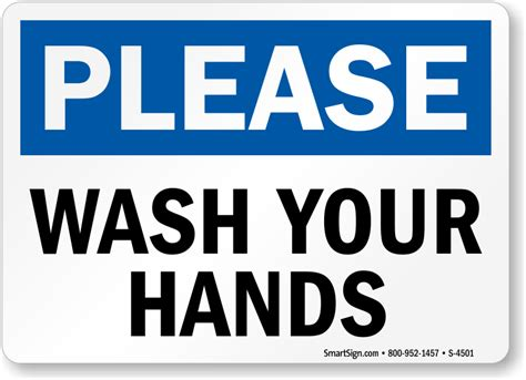 bathroom signs wash your hands please wash your hands hygiene sign sku s 4501