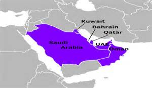 Gcc Countries Map Outline by Gulf Cooperation Council Gcc Countries Worldatlas