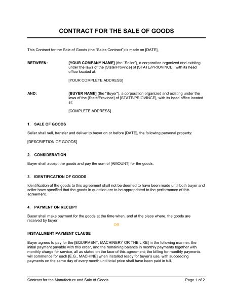salesman agreement template 5 sales contract templates word excel pdf templates