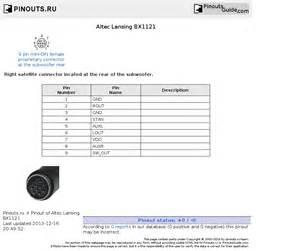 altec lansing bx1121 pinout diagram pinoutguide