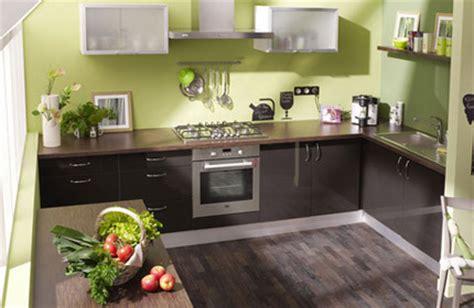 cuisine chocolat et vert anis cuisine vert anis et marron