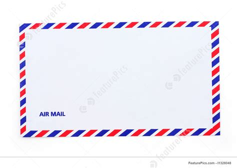 printable airmail envelope communication technology airmail envelope stock picture