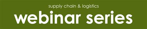 Schulich Mba Webinar by Webinar Lean Logistics And Supply Chain Optimization
