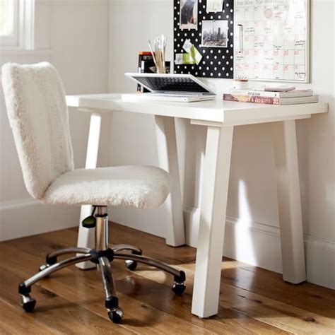 Small Bedroom Desk Furniture Customize It Simple Small Desk Pbteen