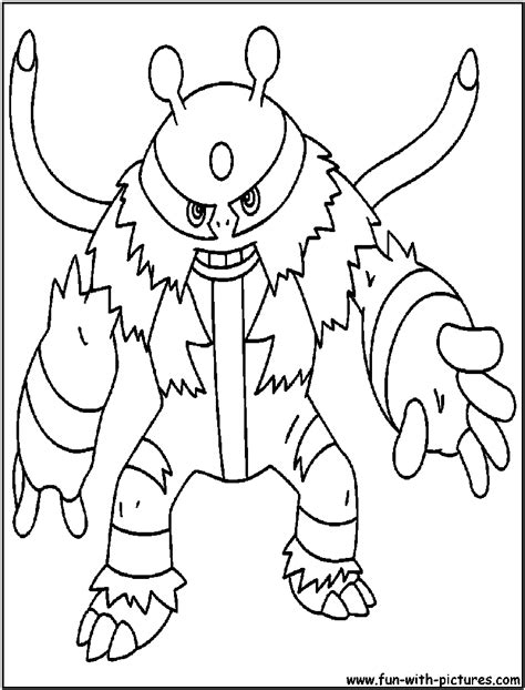 pokemon coloring pages electivire free coloring pages of pokemon electivire