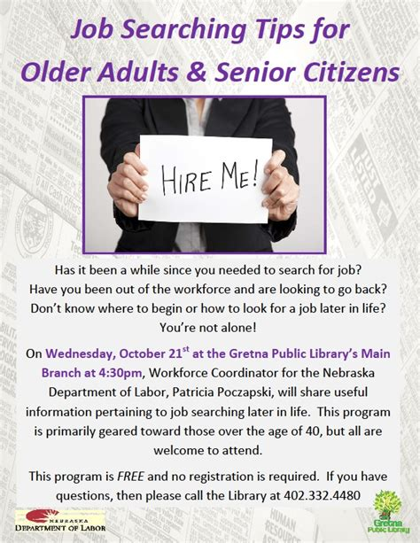 Search Help For Seniors Upcoming Program To Help Adults Find Gretna
