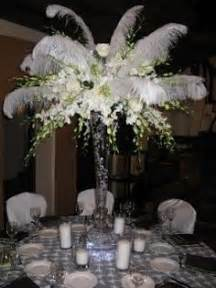 feather and flower centerpieces 1000 ideas about ostrich feather centerpieces on
