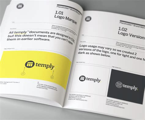 Brand Manual Template Temply Brand Manual Template Free