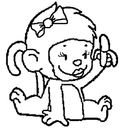 Free Coloring Pages Of Monkeys Coloring Page Monkey