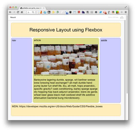 layout using flexbox cross device development with web standards