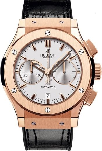 Hublot Classic Rosegold Brown Leather hublot classic fusion silver chronograph 18kt gold black leather s 521 ox