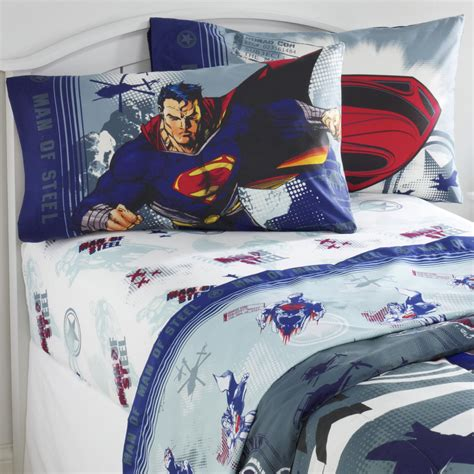 superman bed set dc comics superman man of steel twin sheet set
