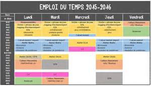 emploi du temps 2015 2016 recherche et atelier