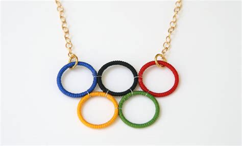 diy olympic rings necklace country times