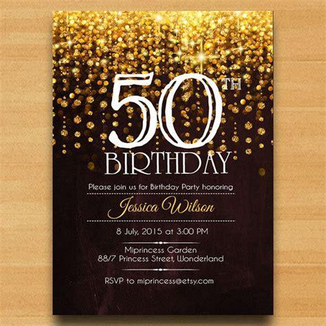 50th Birthday Invitations by Birthday Invitation Birthday From Miprincess On Etsy