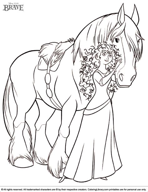 free coloring pages of brave merida