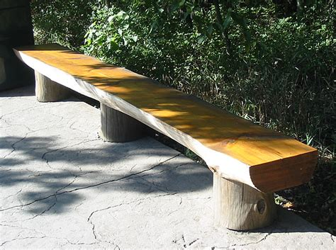 outdoor log bench http www nathankramer com garden landscaping benches log