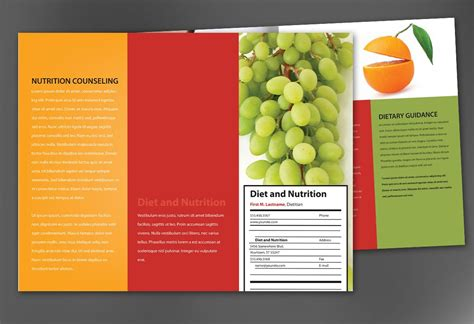 Nutrition Brochure Template nutrition brochure template best agenda templates