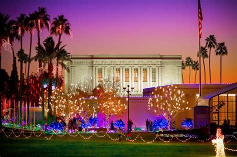 mesa arizona temple christmas lights real intent