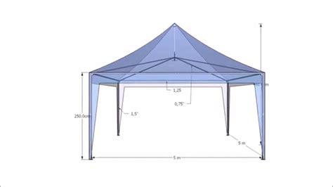 Tenda Besi tenda kerucut 5x5 besi hollow