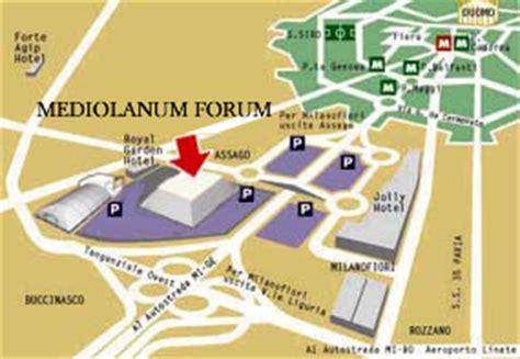 orari mediolanum come arrivare al mediolanum forum libert 224 e giustizia